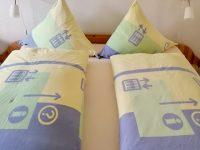 Doppelbett Schlafzimmer Ferienwohnung Wattwurm